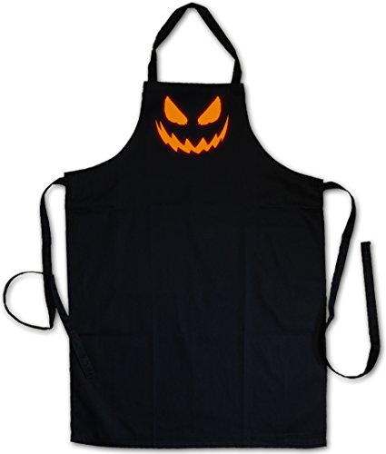 GLOWING HALLOWEEN PUMPKIN I Tablier De Cuisine Cuisson Gril BBQ Barbecue APRON CUISSON GRIL BBQ Barbecue- l'Halloween rougeoyant citrouille Horror Trick or Treat Samhain USA Creature Splatter Gore