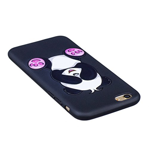 "Coque iPhone 6 / 6S , IJIA Ultra-mince Corgi Adorable Chiens (Kiss My ASS) TPU Noir Doux Silicone Bumper Case Cover Coque Housse Etui pour Apple iPhone 6 / 6S 4.7"" BF36"