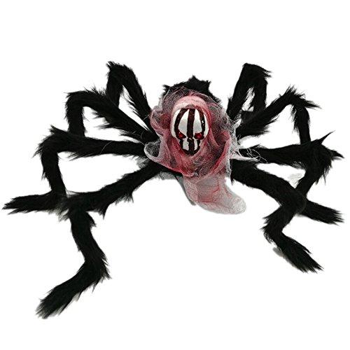 Halloween dekorative Lieferungen, Neuheit Schädel-Spinne Ornament für Bar, KTV Dekoration, Schaum, Eisendraht, Plüschfaser (Crafts Halloween Offene)