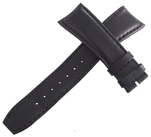 Raymond Weil Herren 22mm x 19mm schwarz Leder Uhrenarmband