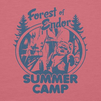 NERDO - Forest of Endor Summer Camp - Damen T-Shirt Pink