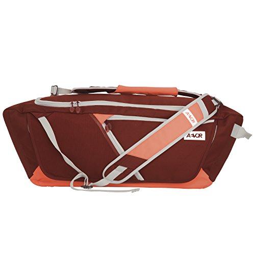 Duffle Bag Koffer (AEVOR Duffle Bag Sporttasche tragbar als Rucksack für Sport und Freizeit erweiterbar auf 53 Liter Red Dusk - korall, burgund)