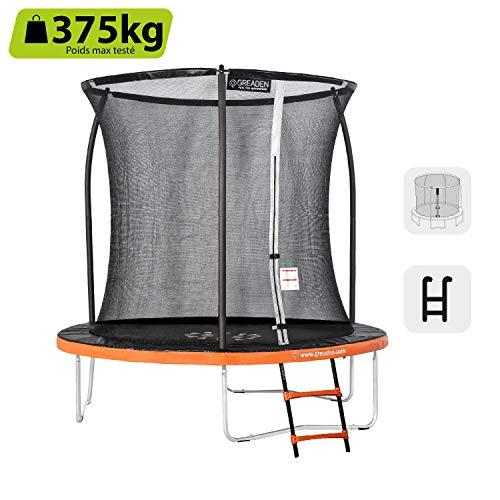 Greaden freestyle round garden trampoline + 250 pack plus + scale