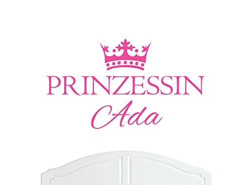 Prinzessin Ada großer Wand-Aufkleber mit Krone, Wand-Dekoration, Wand-Aufkleber, Tapete, Vinylabziehbild-Wahl der Farben / Sticker -