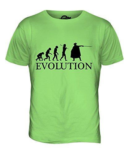 CandyMix Musketier Evolution Des Menschen Herren T Shirt Limettengrün