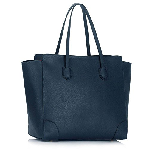 Trend Star Women Handbags Ladies Shoulder Tote Grab designer bags leatherette Marine