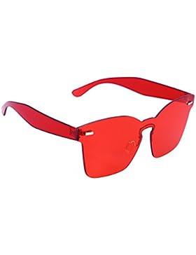 OULII Gafas de sol sin montura con lente Rojo para el regalo del día de la madre