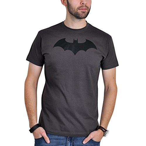 Camiseta de Batman con logotipo Bat Comic Symbol color gris - M