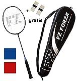 FZ Forza - Badmintonschläger Airflow 74 Lite - sehr Leichtes Vollgraphit Racket für tolle Kontrolle - besaitet - in rot oder blau