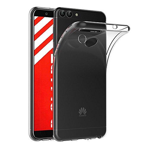 AICEK Huawei P Smart Hülle, Transparent Silikon Schutzhülle für Huawei P Smart Case Clear Durchsichtige TPU Bumper Huawei P Smart Handyhülle (5,65 Zoll)