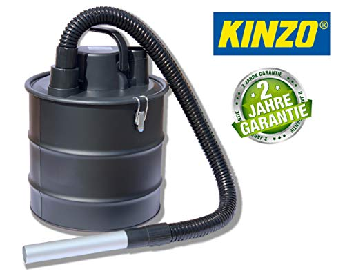 Kinzo K0411 Aschesauger Kaminsauger + Gebläsefunktion, 18L Behälter + Schlauch aus Metall, 2in1 Sauger Nasssauger Trockensauger, Grillsauger mit Hepa Filter, 800W, Bausauger, Staubsauger, Kohlesauger