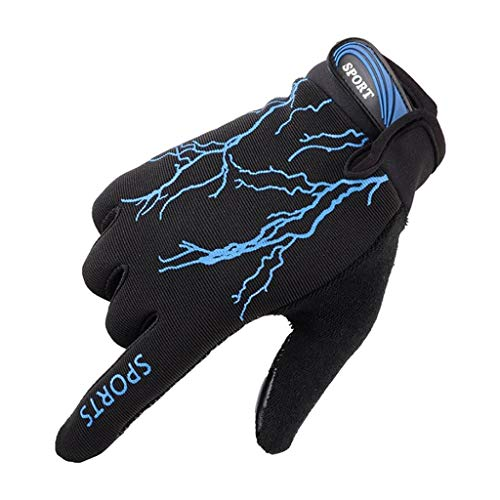 QIMANZI Fahrradhandschuhe Männer Frauen Touchscreen Handschuhe Warm Laufhandschuhe Leicht Outdoor Sport Gloves für Motorrad Camping Reiten Wandern Bergsteigen (Blau) (Offizielle Scream Kostüm)