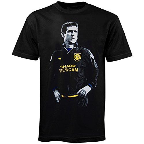Football Legend Eric Cantona in Manchester United Kit Retro T-shirt