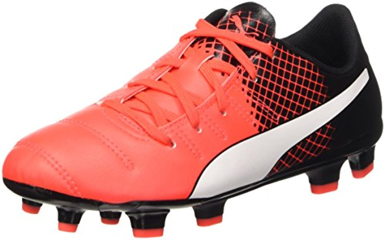 Puma Botas de Fútbol Evopower 4.3 FG Jr, Evopower 4.3 FG Jr, Red Blast/Bianco/Nero, 11.5 J