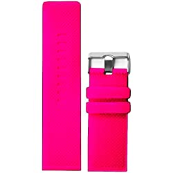 28mm Deep Pink Color Silicone Jelly Rubber Ladies Watch Band Straps WB1079K28JB