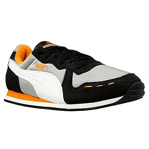 Puma JR CABANA RACER MESH Schwarz Grau Weiss Kinder Sneakers Schuhe Neu