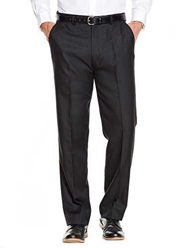 Mens Quality Formal Smart Casual Work Trousers Home/Office Black 40W x 33L