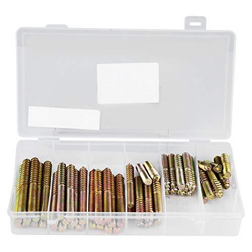 FTVOGUE 60 stücke M8 Doppelseitige Schraube Aufhängebolzen mit Box für Möbel Befestigung Holzbearbeitung Stecker -