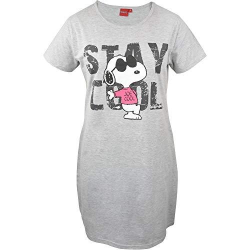 Peanuts Snoopy - Damen Nachthemd, grau meliert, Gr. XL