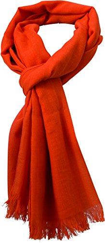 isex Schal Summer Breeze, Orange (Burnt-Orange), One Size (Orange Schal Für Männer)