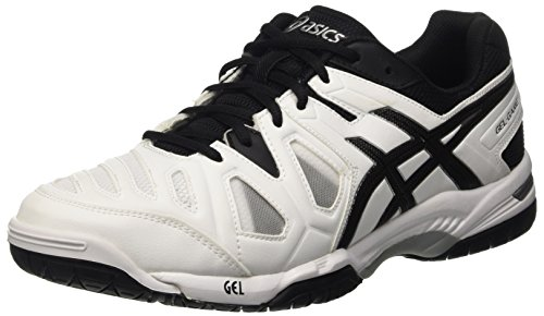 Asics Gel-Game 5 Scarpe, Tennis, Uomo, Multicolore (White/Black/Silver), 41.5 EU