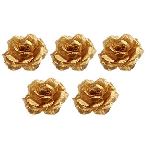 Biback Plantes Fleur Bouquet - Végétaux Artificielles fabriqué en Imitant Décoration Romantique pour Mariage/Soirée / Fête/Noel Couleur Varié O