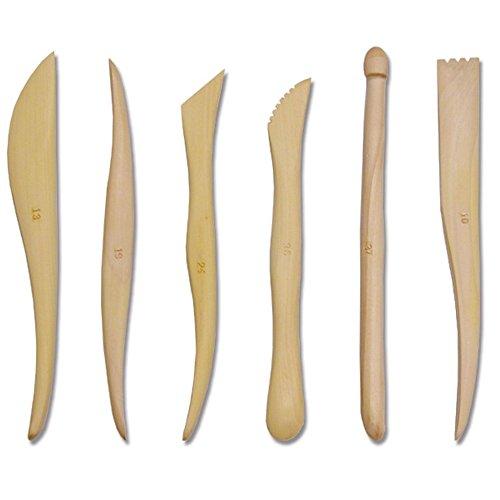 TRIXES Paquete de 6 Herramientas para Esculpir Modelar Madera Arcilla