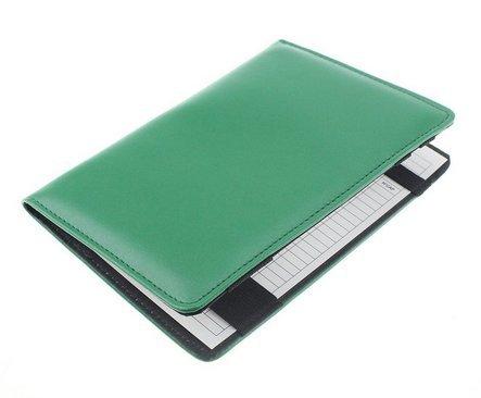 Crestgolf Porte-carte de pointage de Golf en cuir authentique vert avec 1crayon de score et 2cartes de pointage de score