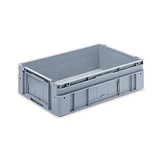 utz Euronorm-Stapelbehälter - Außen-LxBxH 600 x 400 x 170 mm - grau, VE 2 Stk - Box Euronorm Stapelkasten Euronorm Stapelkästen Euronorm-Stapelbehälter Euronorm-Stapelkasten Kiste Lagerkasten Mehrweg-Behälter Stapelkasten Transportkiste aus Kunststoff