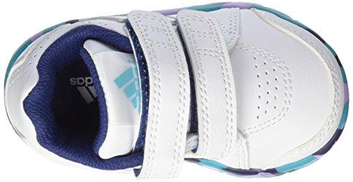 adidas LK Trainer 7 CF, Baskets premiers pas mixte bébé Blanc / vert (blanc Footwear / blanc Footwear / vert impact)