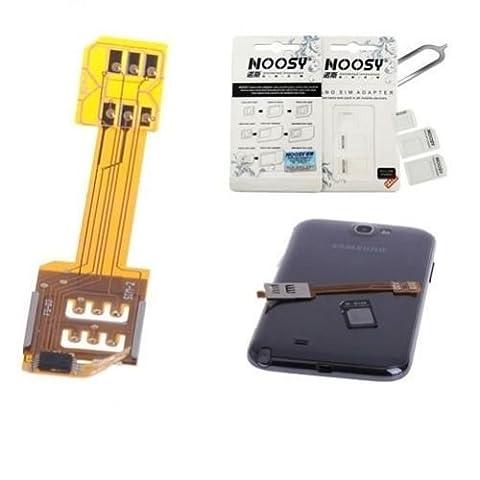 Dual SIM Adapter Micro Karten f. Samsung Galaxy S Note 2 3 Handy Smartphone ♥