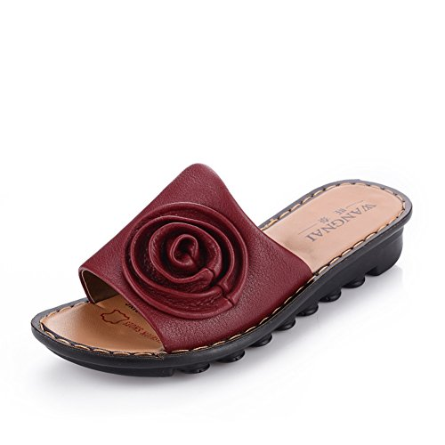 madre in scarpe estive/Pantofole/Scarpe grandi misure/Vecchio scarpe morbide con suola scarpe/Medio Evo lady di pantofole A