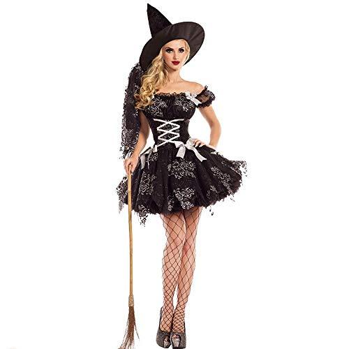 Shisky Cosplay kostüm Damen, Halloween Sexy Hexe Kostüm Vampir Dämon Cosplay Spiel einheitliche Bühne - Dämon Hexe Kostüm