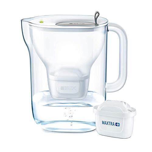 BRITA Wasserfilter Style XL hellgrau inkl. 1 MAXTRA+ Filterkartusche - Großer BRITA Filter in modernem Design zur Reduzierung von Kalk, Chlor & geschmacksstörenden Stoffen