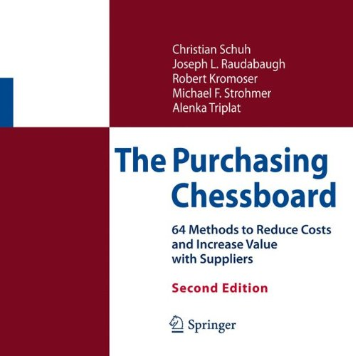 Preisvergleich Produktbild The Purchasing Chessboard: 64 Methods to Reduce Costs and Increase Value with Suppliers