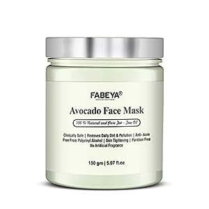 FABEYA Avocado Face Mask, No Parabens, 150 Grams