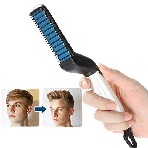 Männer Haarglätter Bürste Glätteisen Kamm Männer Schnelle Elektrische Bart Glätteisen Kamm Haarglättung Shaping Kamm Schnelle Haar Bart Styler (Eisen-haar-bürste)