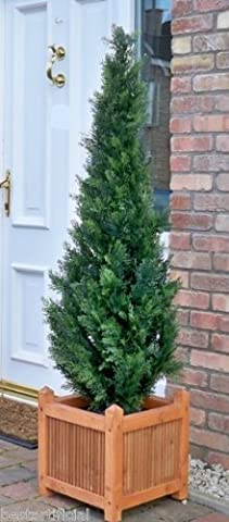 150cm 5Ft Beste Künstliche Cedar Pine Cypress Konifere Tree (Cedar Schritt)