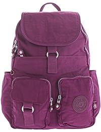 Big Handbag Shop - Bolso mochila  de tela para mujer