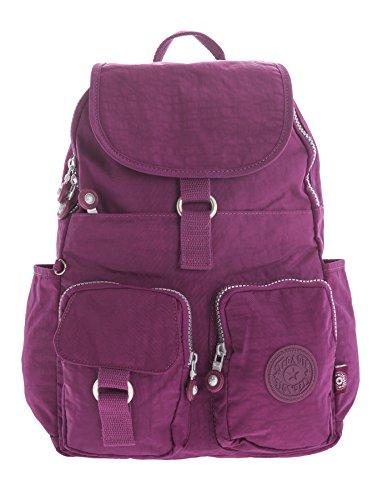 Big Handbag Shop , Damen Rucksackhandtasche Backpack Style 3 - Violet