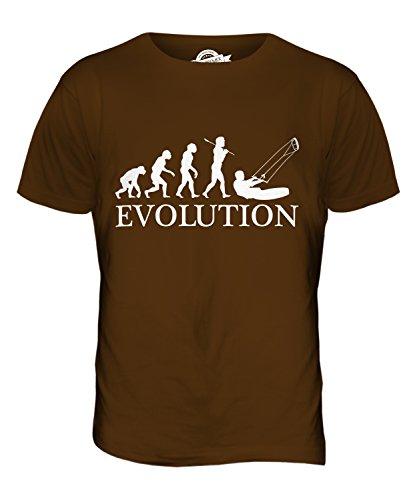CandyMix Kitesurfen Evolution Des Menschen Herren T Shirt Braun