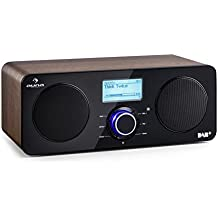 auna Worldwide Stereo • Radio Internet Wireless • Spotify Connect • App Control • Bluetooth • DAB/DAB+ & UKW-RDS e AM/FM • Telecomando incluso • Display LCD • Funzione sveglia • RDS • AUX • Noce