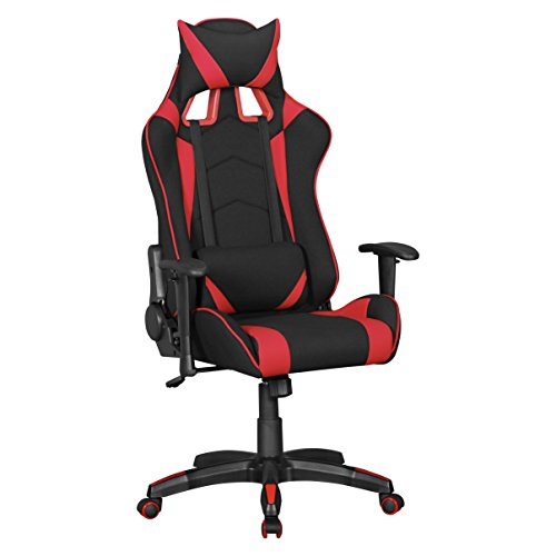 Amstyle SCORE Gaming Chair, Stoff, rot, 70 x 70 x 130 cm