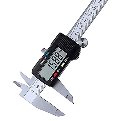 Vernier étrier,Drillpro Vernier Métrique Digital Caliper avec LCD,0-6 pouce /