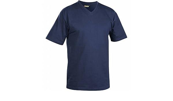 336011658800XXL T-Shirt with V-Collar Size XXL In Navy Blue