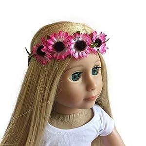 The New York Doll Collection D199 Diadema 45 cm con Guirnalda de Girasol de muñeca Pink-Fits American Girl (2397818)