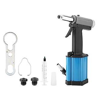 Akozon Remachadora neumática industrial 1/4″ 2.4-5.0mm Pistola de Remache Hidraulica Juego de remachadora
