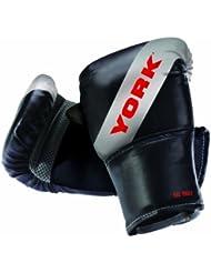 York  - Guantes de boxeo, color negro, talla única