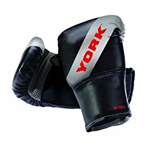 York Boxing Bag Mitt - Black/Silver/Red, One Size