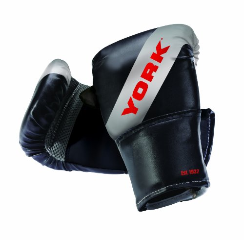 york-boxing-bag-mitt-black-silver-red-one-size